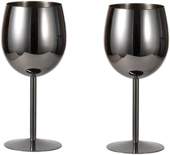 2pcs stainless steel wine glass cocktail wi metal creative Inexpensive Sale item