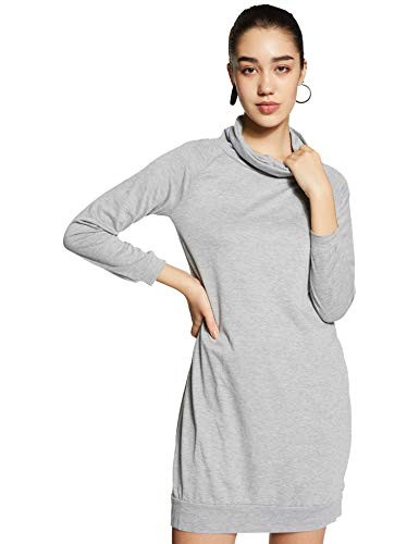 Molly & Sue Women's Synthetic a-line Mini Dress (dress171106173_Grey_Medium)