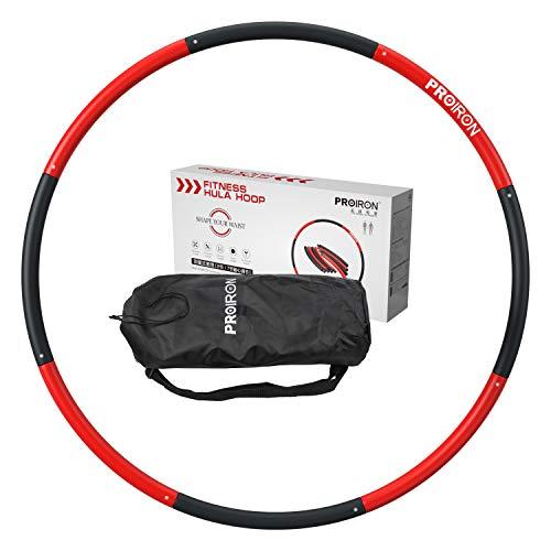 PROIRON Fitness Hula Hoop Reifen 1,2/1,8kg Gewichten Hula-Hoop-Reifen mit Schaumstoff 73-98cm
