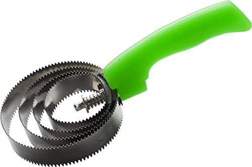 Runder Federstriegel mit Glittergriff, grün