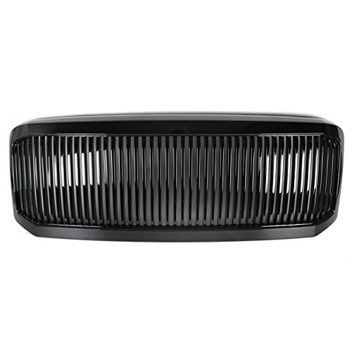 ZMAUTOPARTS Upper Hood Grille Grill Gloss Black Compatible with 2005-2007 Ford F-250 F-350 F-450 F-550 Super Duty
