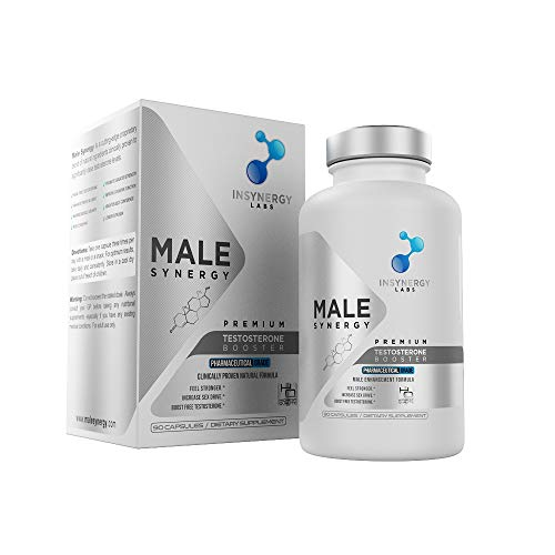 Ultra Premium Testosterone Booster for Men | Male Synergy | The UK's No1 Male Formula | 100% Natural Ingredients | Results from One Capsule | Reduce Fatigue & Increase Energy Levels | Vegan Friendly