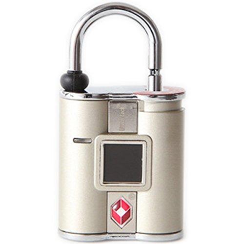 鍵の要らない指紋認証型スマート南京錠「TouchLock(タッチロック)」 TSA ゴールド TSAロック対応済み