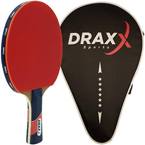 DRAXX Sport Racchette Ping Pong | intermedio / avanzato / giocatore professionista | copertura protettiva rinforzata | per principianti e giocatori PRO | 6 stelle di grado | allenamento e competizione