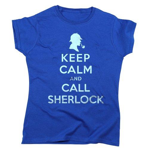 Noten houden kalm en bel Sherlock Holmes Womens T Shirt - Royal Blue