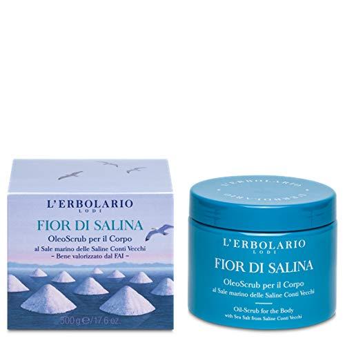 L Erbolario, OleoScrub per il Corpo Fior di Salina, Scrub Fai da Te al Sole Marino, 500 g
