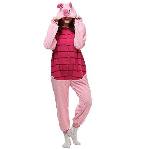 Piglet Onesies Unisex Costume Adult Animal Cosplay Pajamas Clothing