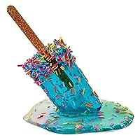 Fenteer 溶けるアイスキャンデーの彫刻、創造的な溶けるアイスクリーム樹脂の装飾、面白いアイスキャンデーの子供のおもちゃの装飾工芸品、家の装飾の贈り物のための夏のアイスキャンデーの像 - ライトブルー
