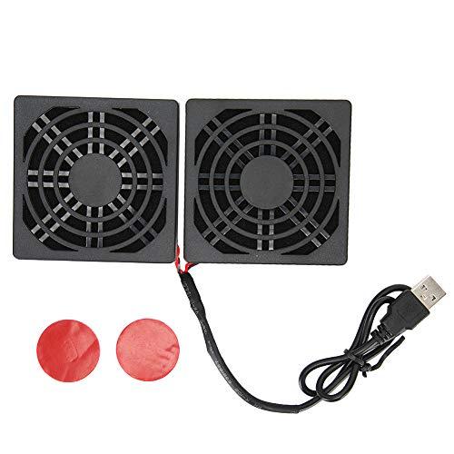 NCONCO Enrutador enfriador de enrutador ventilador de refrigeración 5V USB disipador de calor con cubierta antipolvo para ASUS RT-AC68U AC86U