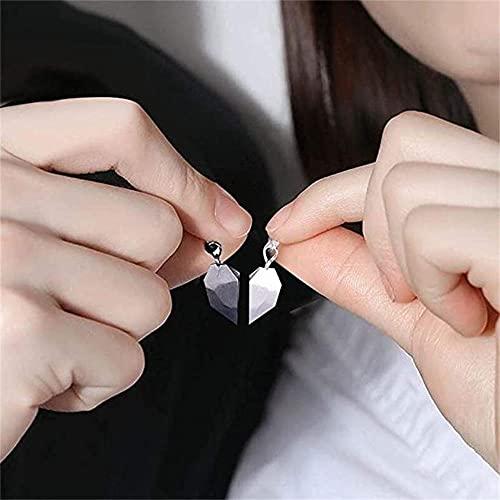 2 pareja magnética collares emparejamiento promesa amor collar collar de largo amor pareja joyería conjunto