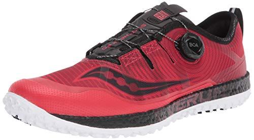 Saucony Men's Switchback ISO Walking Shoe, Red/Black, 7.5 M US