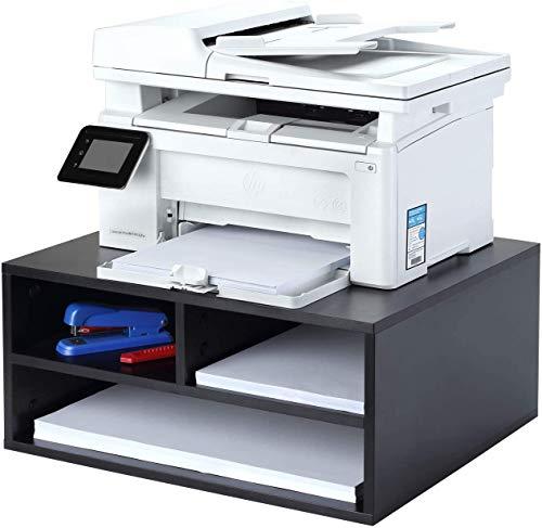 CanKun Druckerständer Schreibtisch,Druckerregal Druckertisch 3 Fächer Druckerschrank Minimalistische Rack-Copy-Rack Multifunktionsdrucker Für Büro,48 * 39.9 * 22.5cm