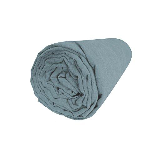 Blanc CERISEDrap-Housse en métis lavé Coton et Lin, RÊVE DE MÉTISLagon90x200 cm