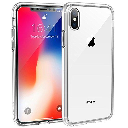 Syncwire Hülle für iPhone X/10, [Ultra Clear, Anti-Gelb, Kratzfest, Fallschutz] Durchsichtig Handyhülle, Schutzhülle mit weicher Silikon Bumper & Hartplastik Rückseite, Transparent