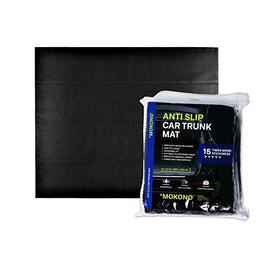 MOKONO Antirutschmatte - extra groß 180x120 - schwarz - individuell zuschneidbar - Kofferraummatte für festen Halt im Auto
