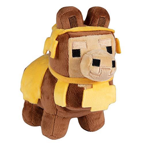J!NX 8732 Jinx Minecraft Happy Explorer Plüschfigur Baby Lama braun 16 cm