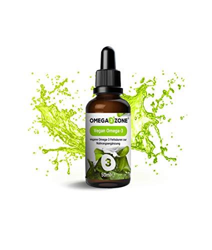 Vegan Omega - Premium Omega-3 Algenöl mit hochwertigem Triglyzerid EPA und DHA - nachhaltig und hochdosiert: nur 2,5 ml pro Tag - höchste Qualität vom deutschen Hersteller Omega 3 Zone
