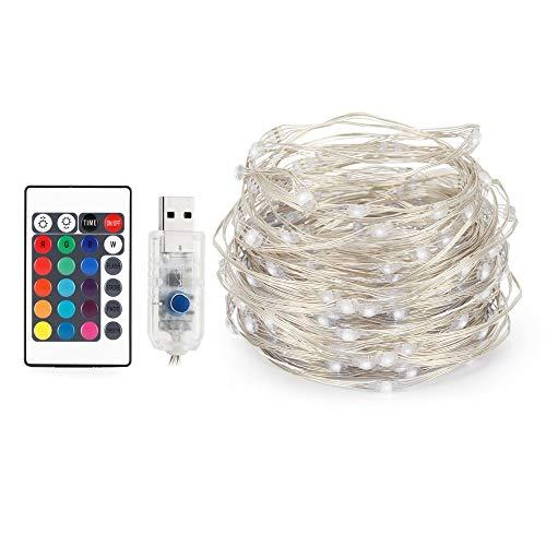 Warme kleur 5M 50LED LED snoer USB aandrijving LED creatief waterdicht licht van de heldere lijn met afstandsbediening decoratie aan