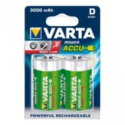 Varta Batterie Power Accu NiMH (Gerätebatterie, Wiederaufladbar), Mono, 1,2V, D, HR20, Akku, 2 Stück