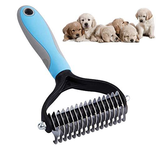 Xnuoyo Cepillo Perro Gato Peine del Pelo del Animal Doméstico del Rastrillo 16 de Doble Cara Se Utiliza para Eliminar el Pelo Muerto y los Enredos de Perros y Gatos