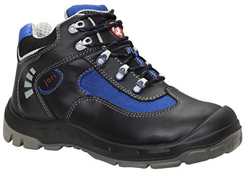 JORI Zapatos de seguridad Alex S2, unisex, de piel, resistentes, ligeros, con puntera de acero, talla 36, color negro