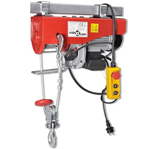 VidaXL Elektrische kabel, hek, elektrische lier 1300 W 500/999 kg
