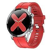 LTLJX Deportivo Reloj Inteligente con Pulsómetro,Cronómetros,Calorías,Monitor de Sueño,Podómetro para Actividad Impermeable IP68 Smartwatch para Mujer Hombre Niño,Rojo