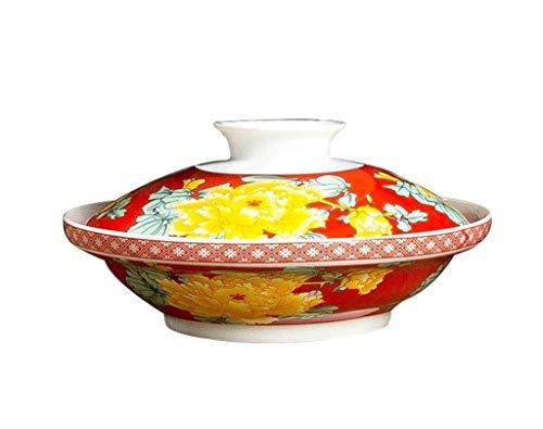 Keuken/Tafelgerei - Keramische kom kommen Servies Ceramic blauw en wit Multi-Function Household 7-inch plaat met deksel Soup Soup porseleinen schalen for Kitchen Gifts (Kleur: C) (Color : C)