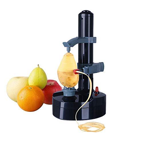 Rziioo Elektroschäler Automatische rotierende Kartoffelschälmaschine