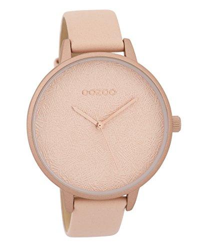 Oozoo Damenuhr mit Lederband 43.5 MM Pinkgrau/Pinkgrau C9593
