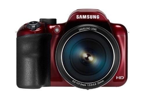 Samsung WB1100F Digitalkamera (16 Megapixel, 35-fach opt. Zoom, 7,6 cm (3 Zoll) Display) rot