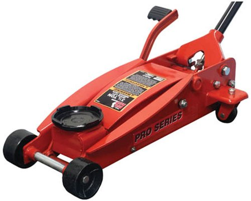 BIG RED T83014 Torin Pro Series Hydraulic Floor Jack with Single Quick Lift Piston Pump and Foot Pedal, 3.5 Ton (7,000 lb) Capacity, Red