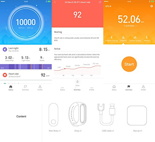 Xiaomi Tech Pulsera Fitness Tracker Mi Band 3 Smart 9