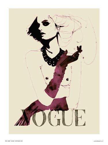 onthewall Vogue Pop Art Poster Stampa Artistica di Parrucca (OTW059)