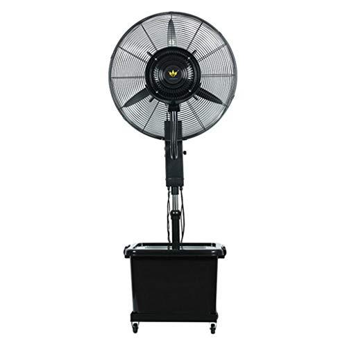 HGNA-Kühl&Heizsystem Großer Luftkühler Schwarzer oszillierender Zerstäubungs-Ventilator-industrieller Abstauben-Handelsboden-Ventilator-energiesparende 260W / 3 Geschwindigkeiten (Size : 75cm)