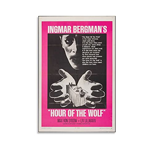 TONGDIAN Hour of The Wolf Ingmar Bergman's Horror Movies Poster Canvas Poster Wall Art Picture Prints Hanging Photo Gift Idea Decor Home Posters Artworks 16x24inch(40x60cm)