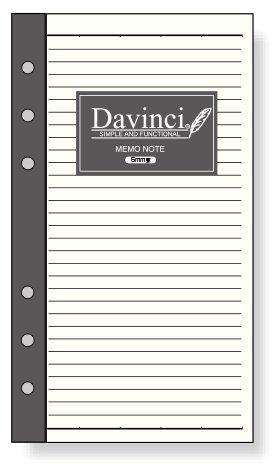 ダ・ヴィンチ リフィル 聖書サイズ・スケジュール メモ帳ノート(5.0mm罫) davinci DR281