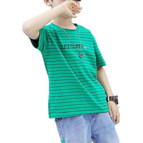 Ensemble Manches Courtes Summer Boys T-Shirt imprimé Mignon à Manches Courtes avec Un Pantalon Court en Jean à Rayures col Ras du Cou et des Tenues pour Les garçons pour Les Loisirs Sportifs d'été