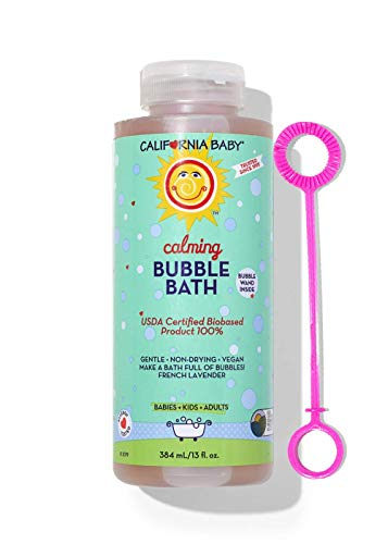 California Baby Bubble Bath - Calming, (13oz) Lavender & Clary sage Essential Oils Combine for a Light, Calming Scent—Perfect Before Bedtime.