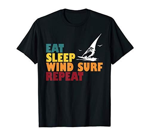 Eat Sleep Surfen Windsurf Surfer Windsurfer Windsurfen Segel T-Shirt