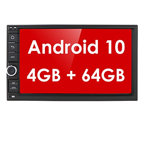High-end Android 10 Octa Core Car Stereo Double Din 4G Bluetooth GPS Radio RDS Mirror-Link SD WiFi Steering Wheel Control 7 Inch Navigation