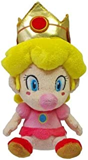 Little Buddy Super Mario Plush Baby Peach, 5-Inch