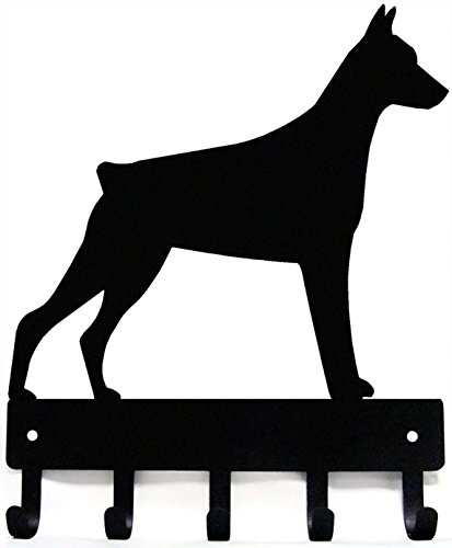 The Metal Peddler Doberman Dog - Key Hooks & Holder - Small 6 inch Wide - Made in USA