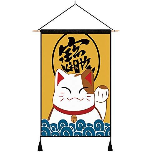 NPYANYAN Lucky Cats Hanging Paintings-weefseldecoraties die de meter-box achtergrond stoffen hangende stoffen wand-stoffen slaapzak blokkeren