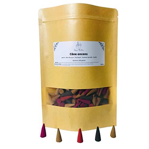 Bolsa de 300 inciensos conos indios con perfume floral y natural para quemadores de incienso, fuente de incienso de interior, aromaterapia, para casa, yoga, oficina o como regalo