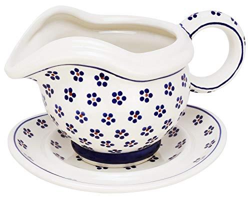 Bunzlauer keramik assiette saucière avec compartiment séparé, décor 225 0,5 l
