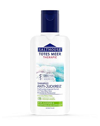 Totes Meer Therapie Anti-Juckreiz Shampoo Sparset 2x250ml. Milde Wirkformel mit Polidocanol lindert Juckreiz und wirkt wohltuend bei irritierter Kopfhaut.