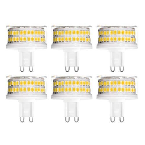 YWX G9 LED Lampadina,9W Equivalente a 90W Lampada Alogena Bianco Caldo 3000K Senza Flicker Angolo di Fascio di 360 ° 900Lm G9 Dimmerabile Lampadine Confezione da 6