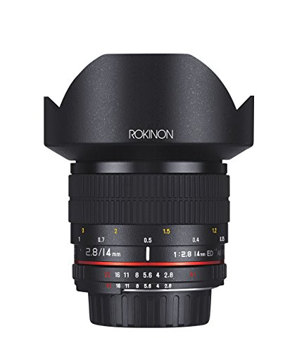 Rokinon 14mm f/2.8 IF ED UMC Ultra Wide Angle Fixed Lens w/Built-in AE Chip for Nikon