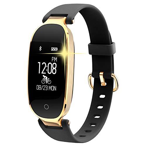 WOWGO Fitness Tracker Donne Cardiofrequenzimetri Conta Passi IP67 Impermeabile Podometro Bracciale Bluetooth con Monitor del Sonno per Smartphone Android & iOS, iPhone, Samsung